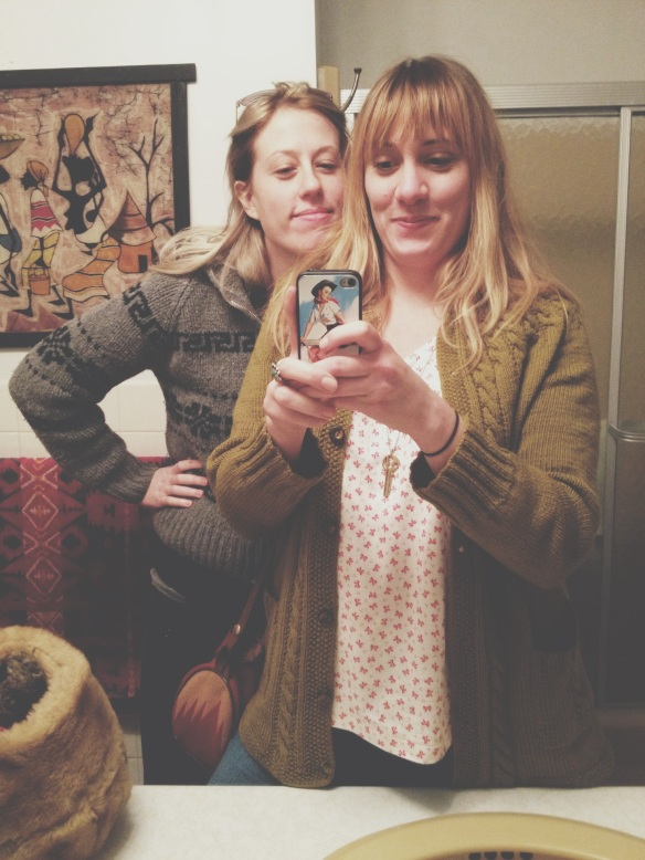 high plains thrifter // clare's well // meggie + meghan selfie
